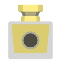 Perfume bottle icon flat style vector