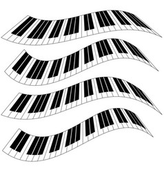 piano keys piano keyboard isolated vector image