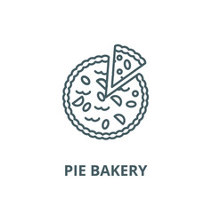 pie bakery line icon linear concept vector image