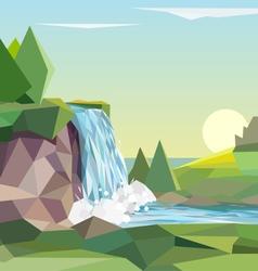 Polygonal landscape vector