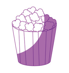Pop corn bucket icon vector