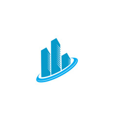 real estate logo design building logo real estate vector image