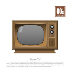 Retro tv in realistic style on white background vector