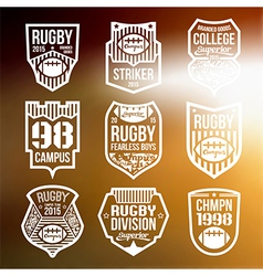 Rugby emblems vector