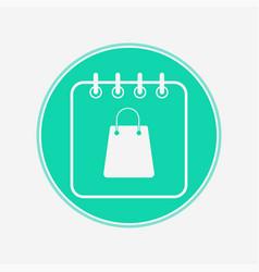 sale calendar icon sign symbol vector image
