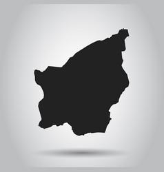 San marino map black icon on white background vector
