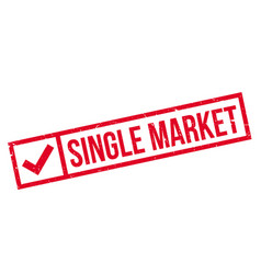 single market rubber stamp vector image