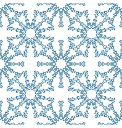 Snowflakes seamless pattern for winter design vector