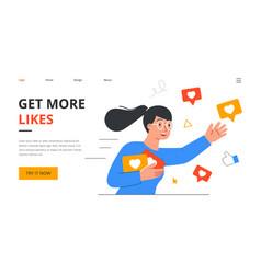 social media star concept vector image