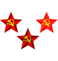 soviet star hammer and sickle vector image