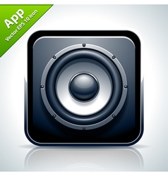 Speaker musical app icon vector