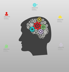 Thought process infographics vector image