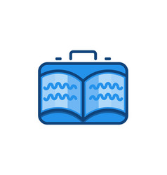 travel bag and book logo designs inspiration vector image