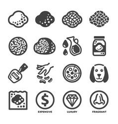 Truffle icon set vector