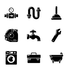 Tubular chief icons set simple style vector
