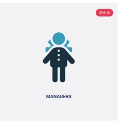 Two color managers icon from people concept vector
