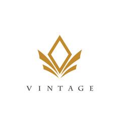 vintage logo vector image