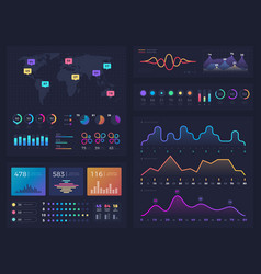 Workflow charts and diagrams infographic useful vector