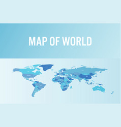 world map in modern design vector image
