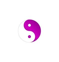 Yin Yang Symbol - Black and White vector image