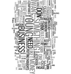 young entrepreneurs text word cloud concept vector image