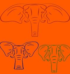 Cartoon elephants vector image vector image