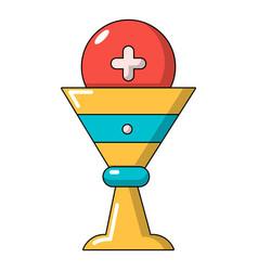 Church goblet glyph icon cartoon style vector