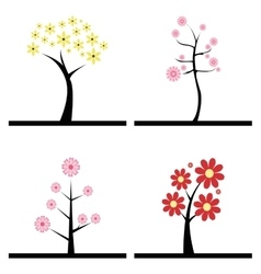 Cute Abstract trees vector image
