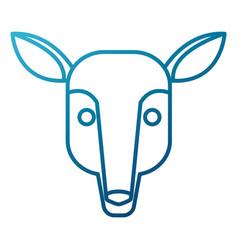 deer animal cartoon vector image