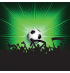 Football supporters background vector image