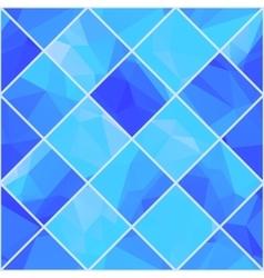 Geometric mosaik blue background vector image vector image