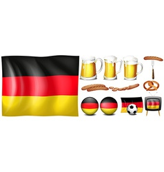 German set vector image