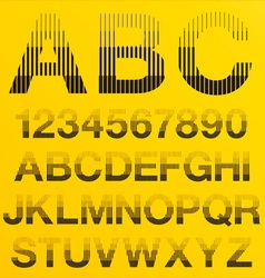Halftone Lines Alphabet Letters vector image vector image