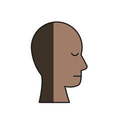 human head profile male character shadow vector image