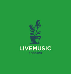 modern professional sign logo live music vector image
