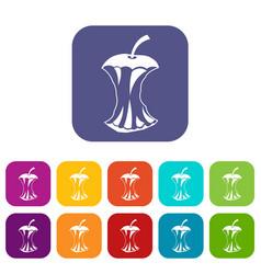 apple core icons set vector image