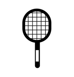black icon sport racket vector image