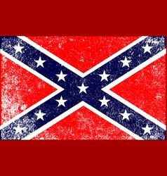 confederate civil war flag vector image vector image