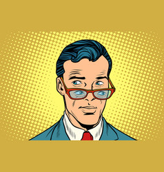 double view a man in glasses vector image
