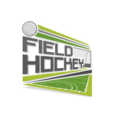 logo of field hockey vector image vector image