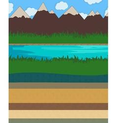 Nature layer ground vector