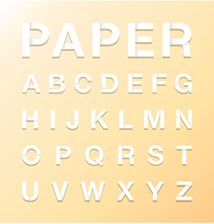 paper letters vector image vector image