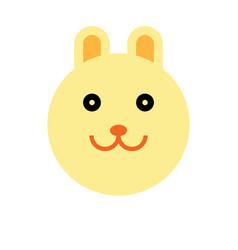 rabbit cartoon animal head vector image vector image