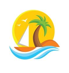 Travel logo sign vector