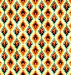 vintage diamond seamless pattern vector image vector image