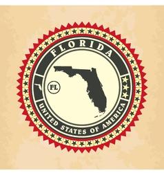 Vintage label-sticker cards of Florida vector image vector image