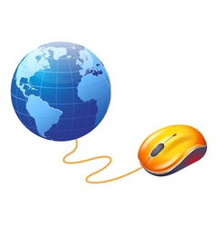 world and mouse vector image