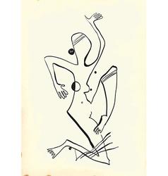 Art of Line Art - Woman vector image vector image