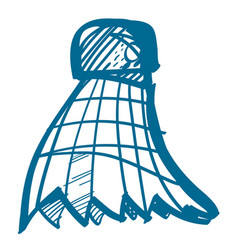 badminton shuttlecocks sport hobbies outdoor vector image