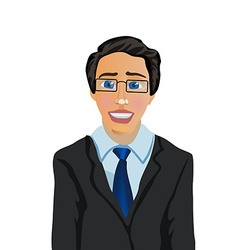 Cartoon Character Businessman Manager vector image
